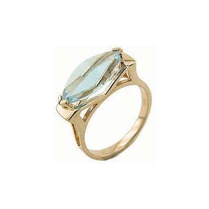 Кольцо. Голубой топаз. Арт.015Т из золота 585 пробы