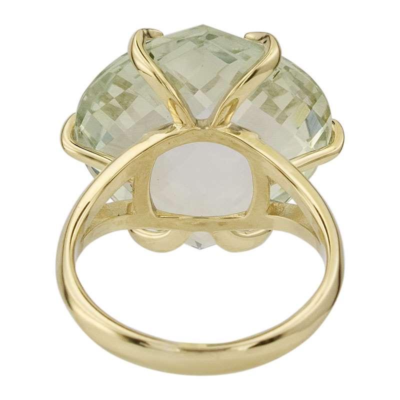 Кольцо. Аметист зеленый. Арт.1016Аз из золота 585 пробы
