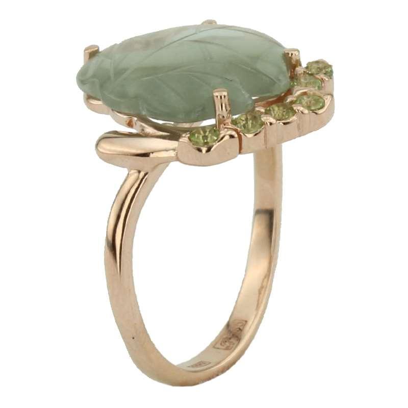 Кольцо. Сочетание камней. Арт.1046АзХ из золота 585 пробы