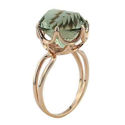 Кольцо. Аметист зеленый. Арт.1047Аз из золота 585 пробы