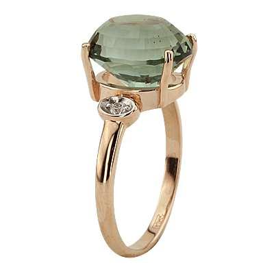 Кольцо. Аметист зеленый. Арт.1048АзКц из золота 585 пробы