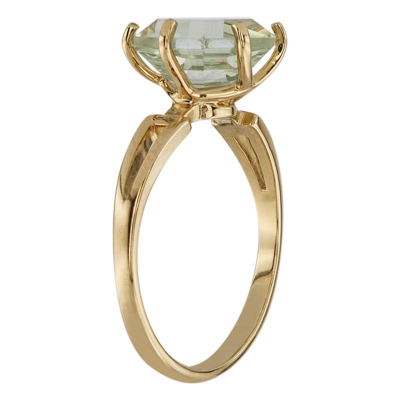 Кольцо. Аметист зеленый. Арт.1079Аз из золота 585 пробы