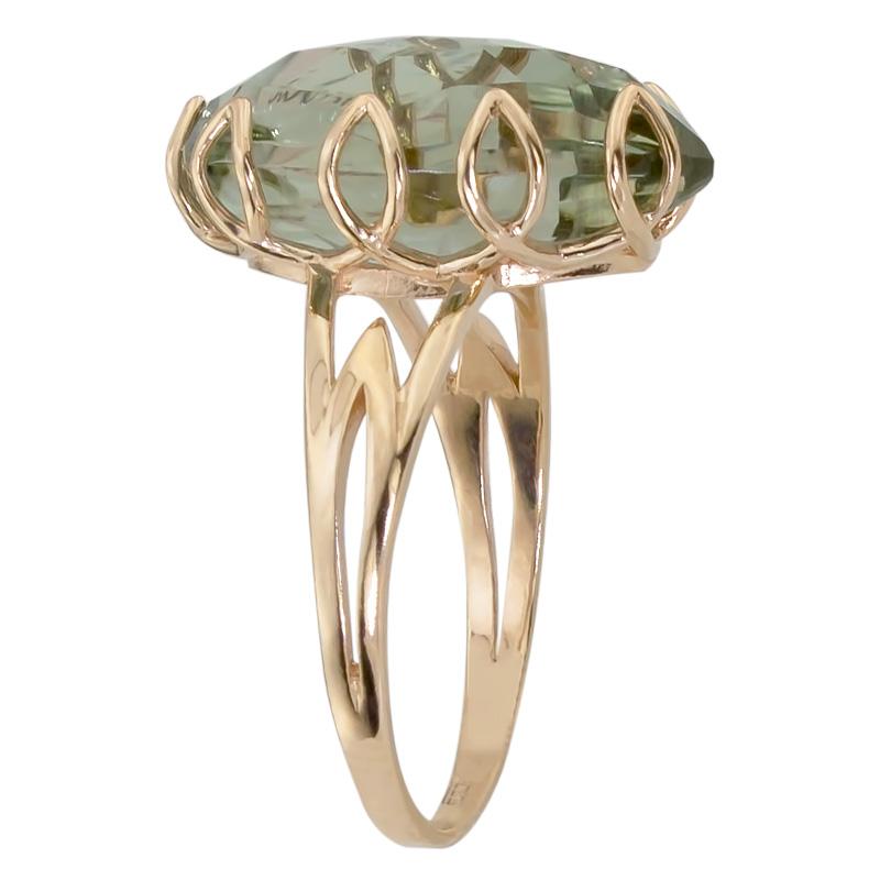 Кольцо. Аметист зеленый. Арт.1116Аз из золота 585 пробы