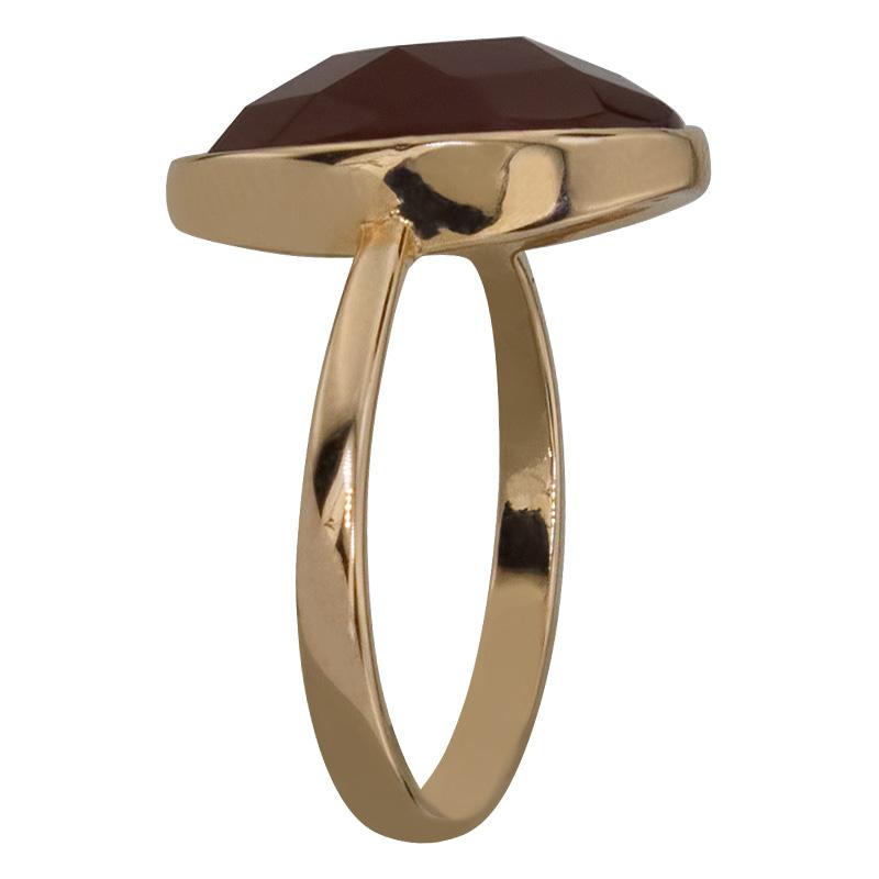 Кольцо. Сердолик. Арт.143Сер из золота 585 пробы