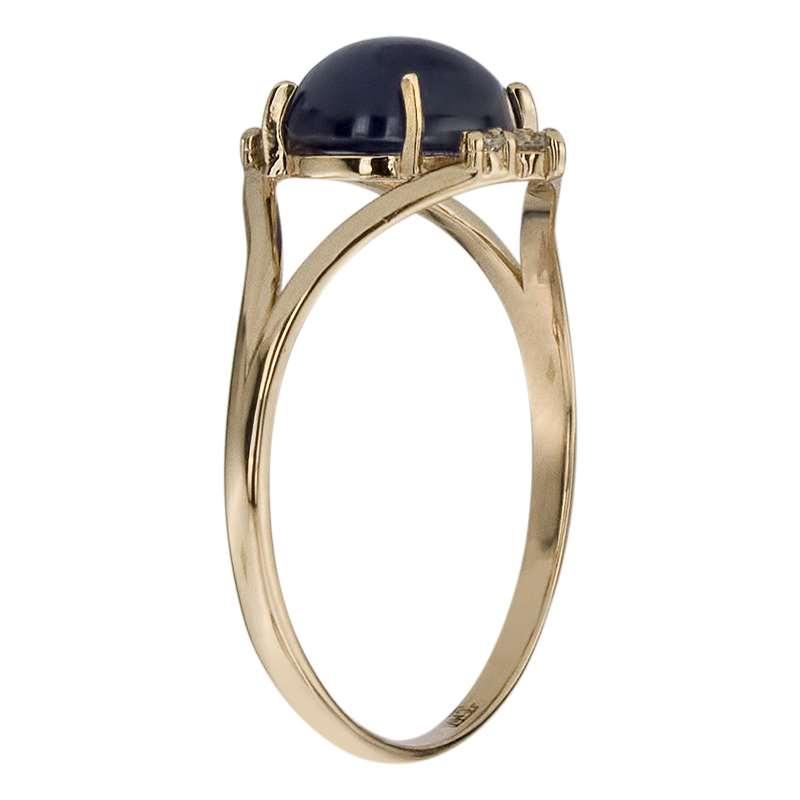 Кольцо. Звездчатый сапфир. Арт.1501СпзКц из золота 585 пробы