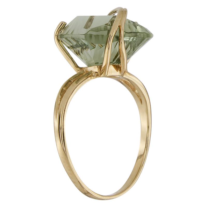 Кольцо. Аметист зеленый. Арт.1529Аз из золота 585 пробы