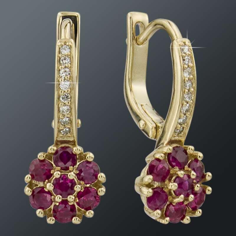 Золотые Серьги Арт 1560 фото