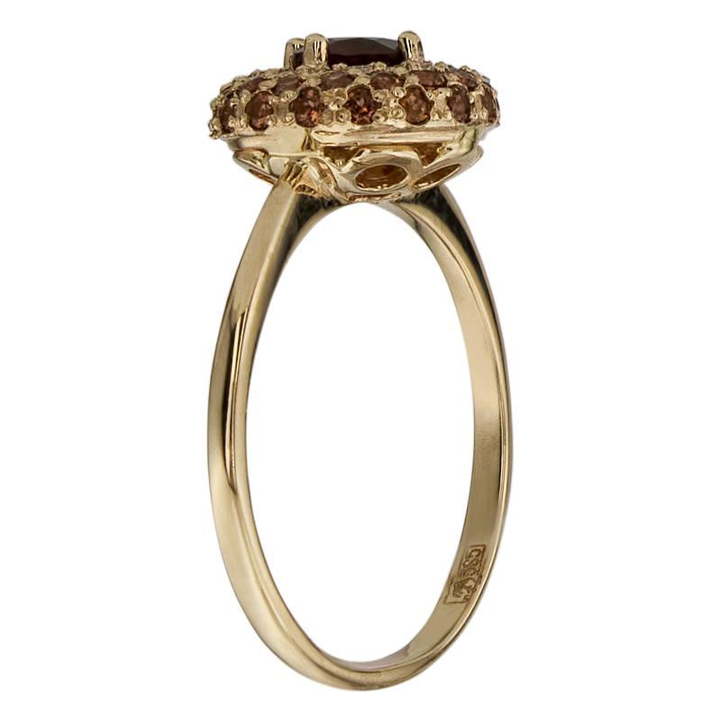 Кольцо. Гранат. Арт.1611ГКц из золота 585 пробы