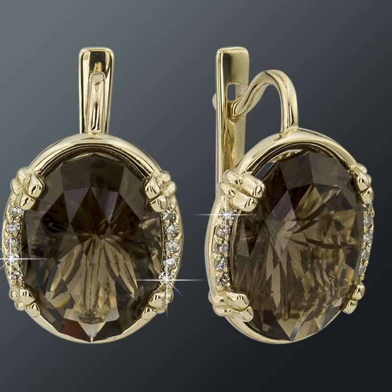 Золотые Серьги Арт 1652 фото