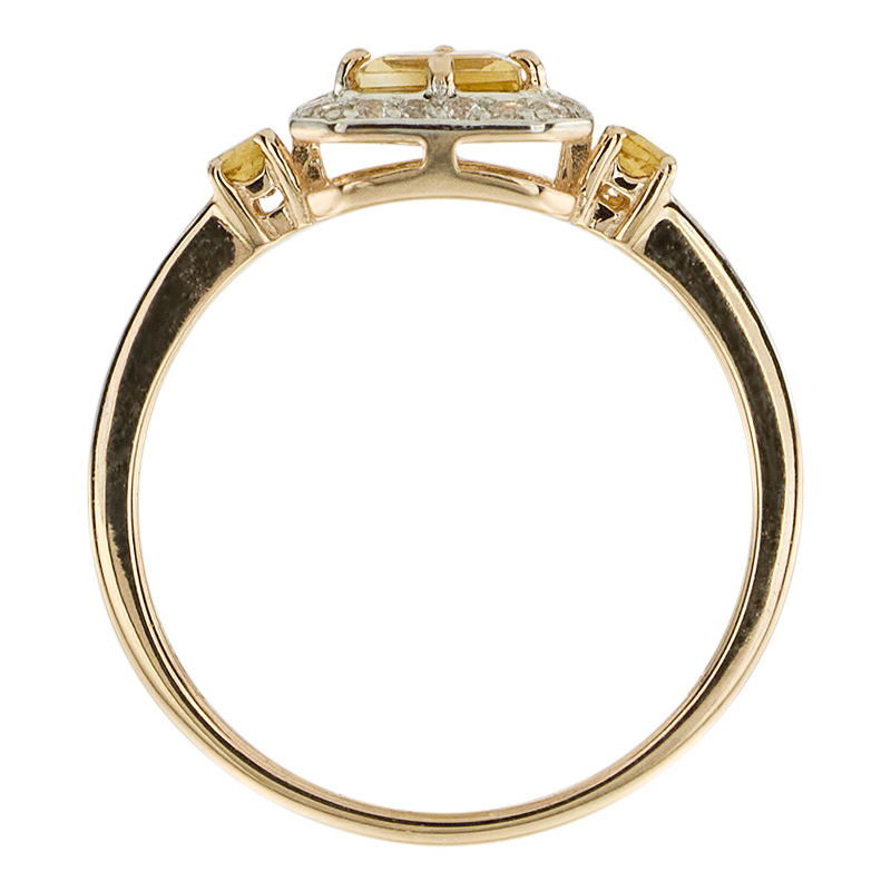 Кольцо. Цитрин. Арт.1724ЦКц из золота 585 пробы