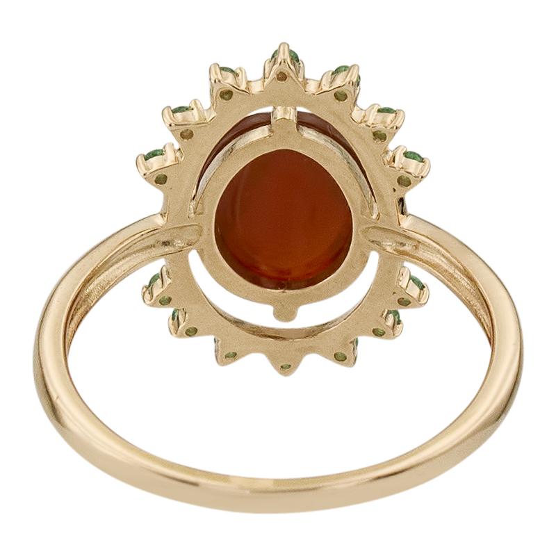 Кольцо. Сердолик. Арт.1741СерКц из золота 585 пробы