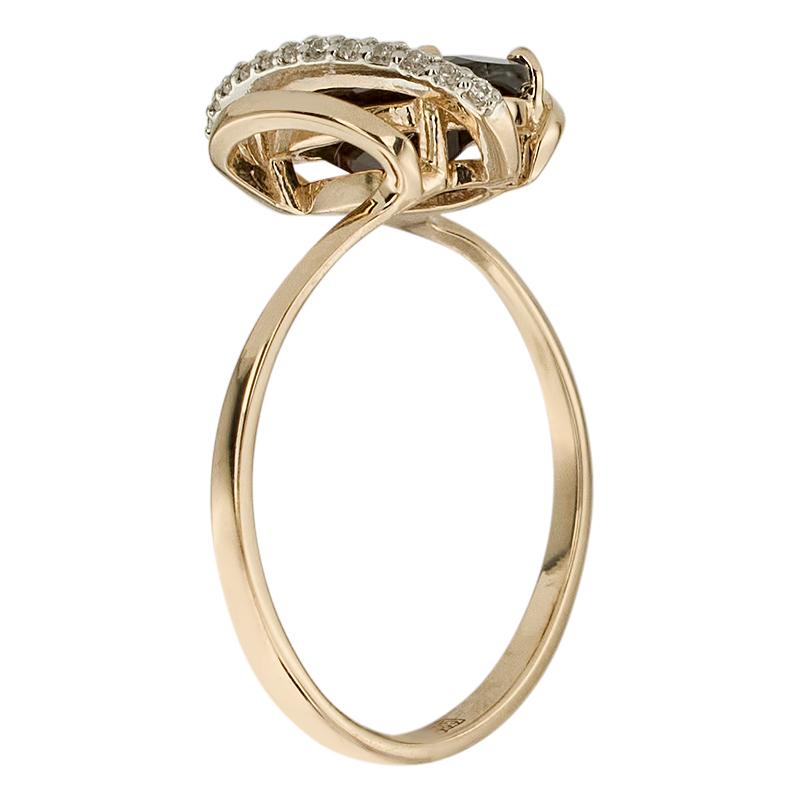 Кольцо. Гранат. Арт.1751ГКц из золота 585 пробы