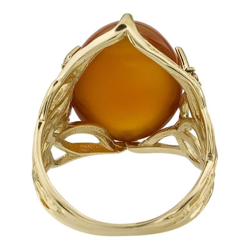 Кольцо. Сердолик. Арт.1767ГСер из золота 585 пробы
