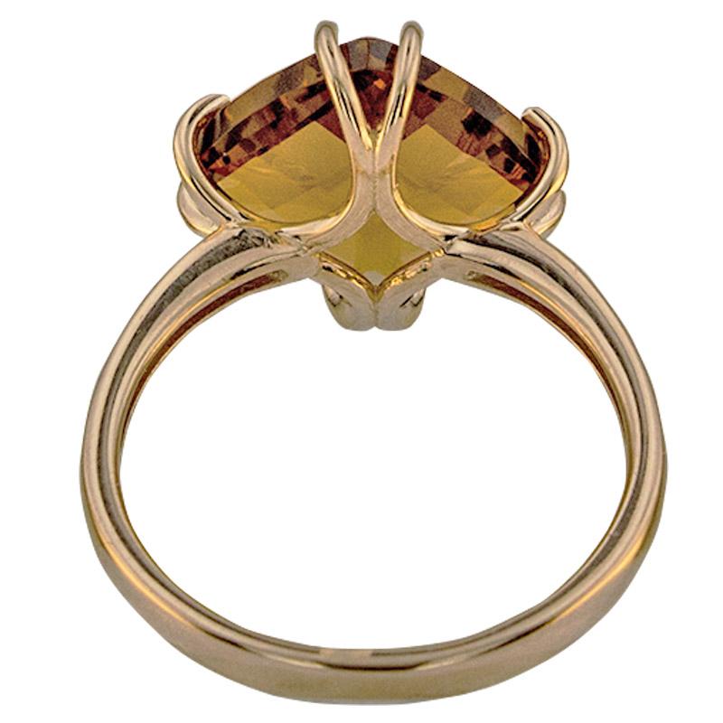 Кольцо. Цитрин. Арт.1835Ц из золота 585 пробы