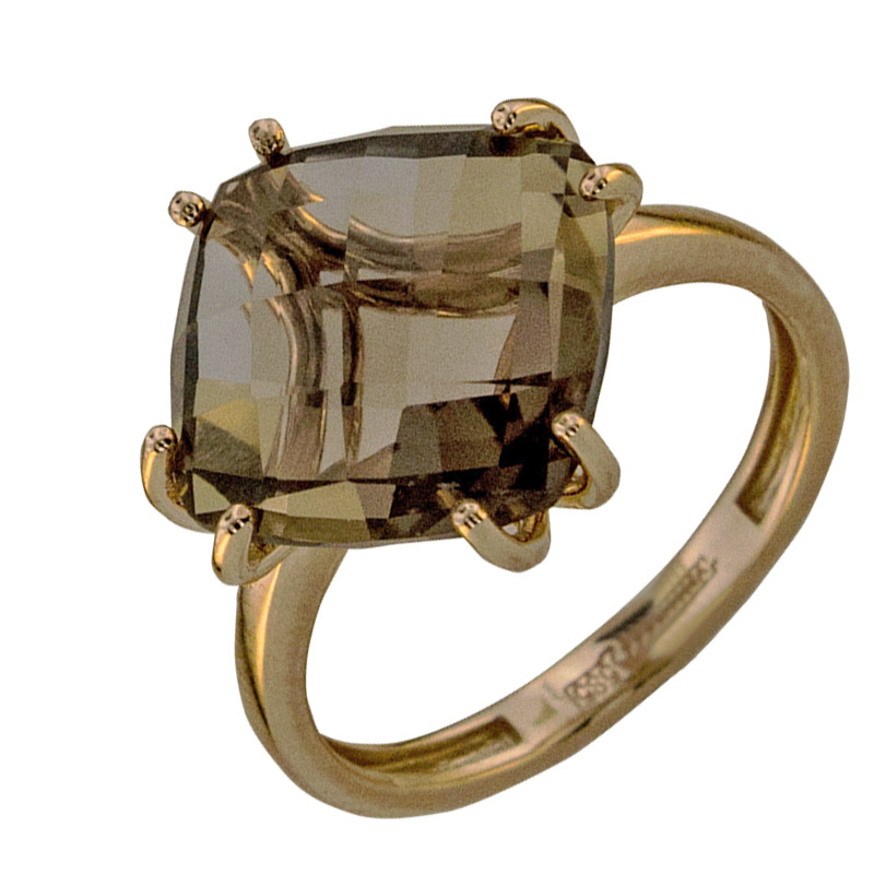 Кольцо. Раухтопаз. Арт.1835Р из золота 585 пробы