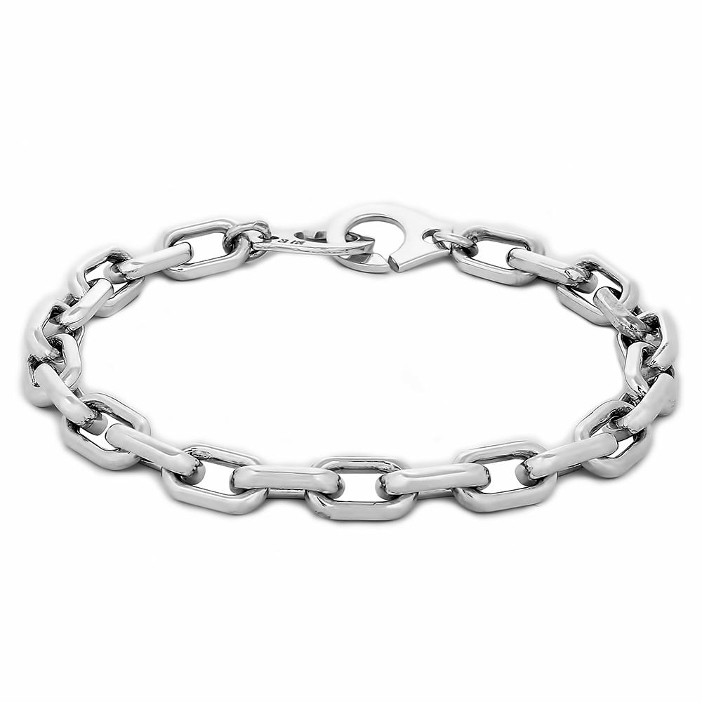 Браслет. Мужские серебряные браслеты. Арт.1872 из золота 585 пробы