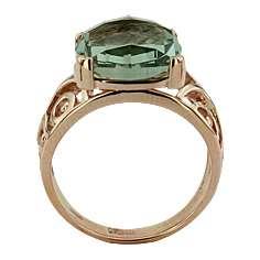 Кольцо. Аметист зеленый. Арт.201Аз из золота 585 пробы