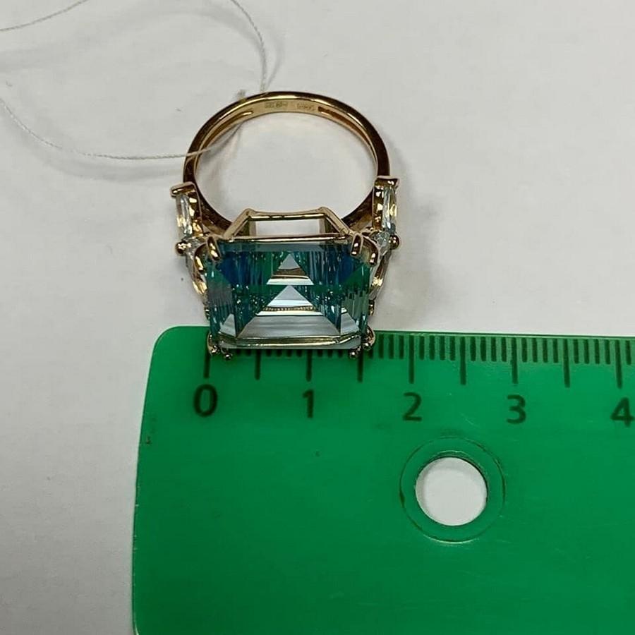Кольцо. Голубой топаз. Арт.2046Т из золота 585 пробы
