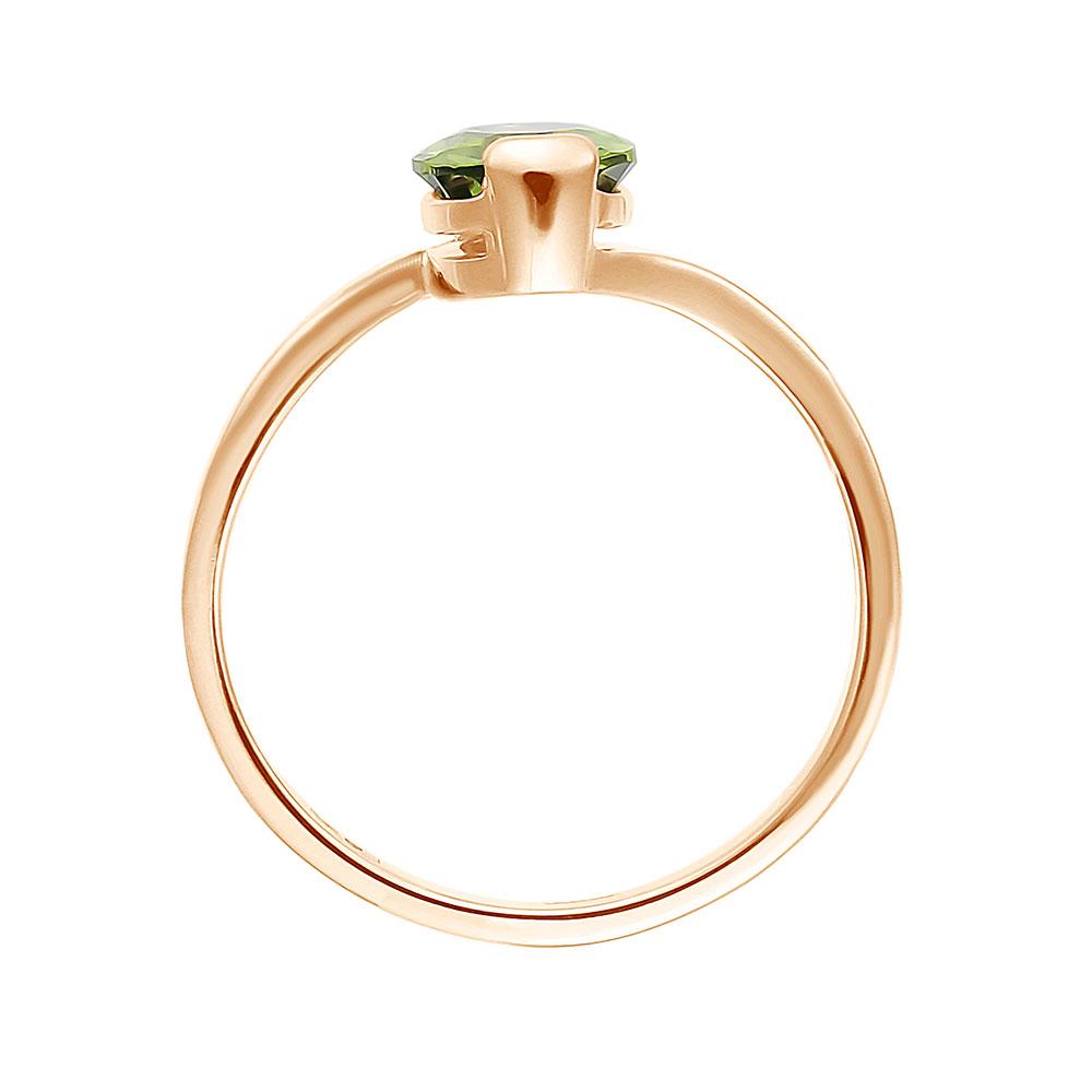 Кольцо. Хризолит. Арт.231Х из золота 585 пробы