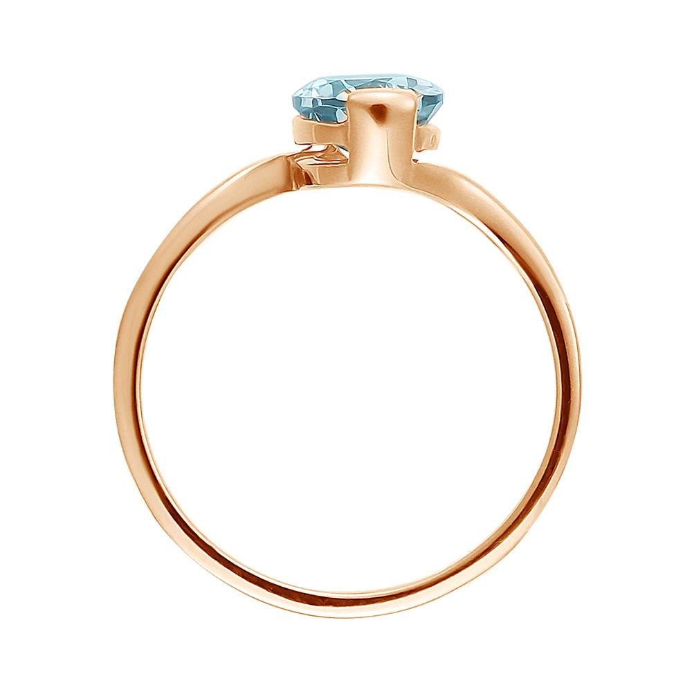 Кольцо. Голубой топаз. Арт.231Т из золота 585 пробы