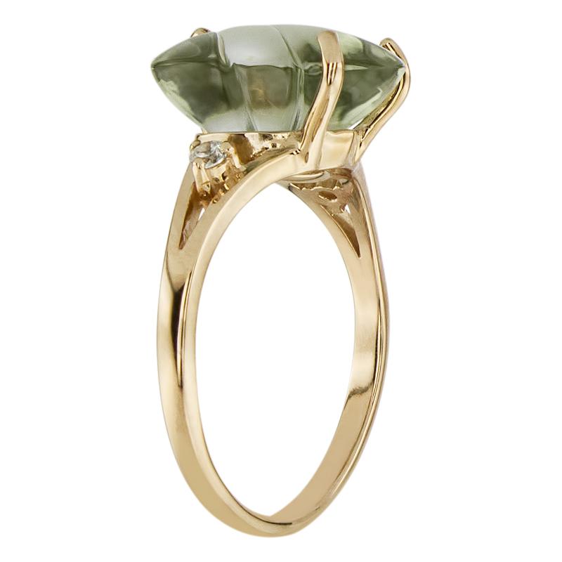 Кольцо. Аметист зеленый. Арт.314АзКц из золота 585 пробы