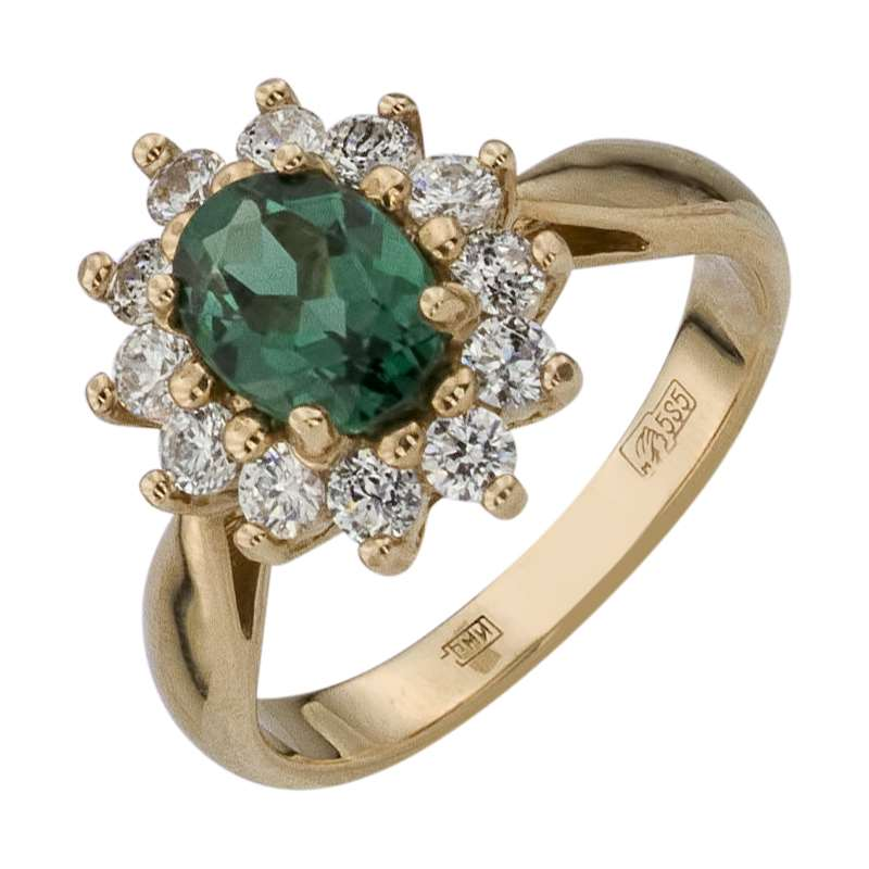 Золотое кольцо с турмалином. Купить по цене от 5000 - Ювелирный ... 2c107444d75ce