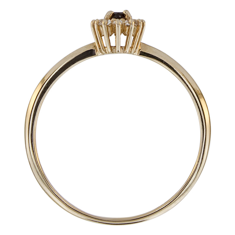 Кольцо. Гранат. Арт.519ГКц из золота 585 пробы