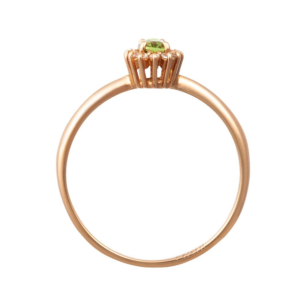 Кольцо. Хризолит. Арт.519ХКц из золота 585 пробы