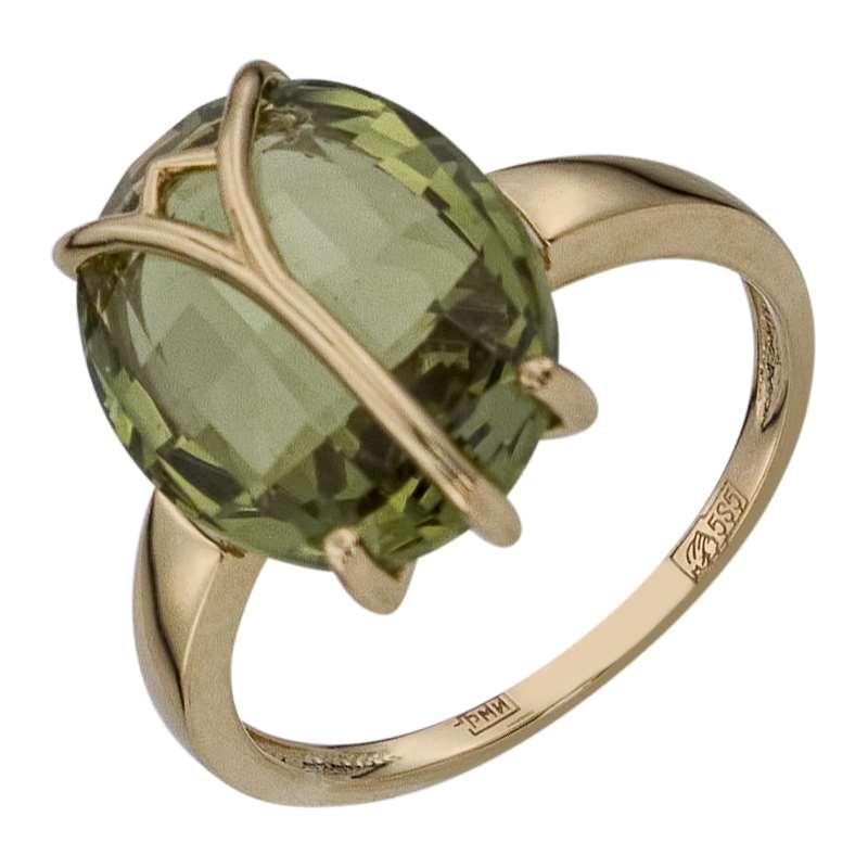 0137975d9ae8 Купить ювелирное украшение Кольцо арт.566Нанох Хризолит из золота в ...
