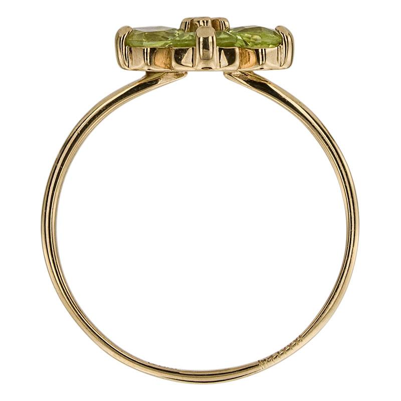 Кольцо. Хризолит. Арт.606Х из золота 585 пробы