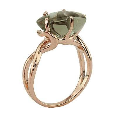 Кольцо. Аметист зеленый. Арт.997Аз из золота 585 пробы