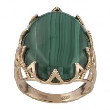 Золотое кольцо с малахитом. Купить по цене от 5000 - Ювелирный ... 715e33070cb64