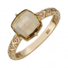 Золотое кольцо с цитрином. Купить по цене от 5000 - Ювелирный ... 24ea3422a51e6