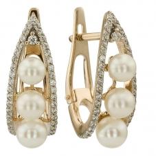 Купить ювелирные украшения с жемчугом. Изделия из золота. Завод ... 1265e517d83
