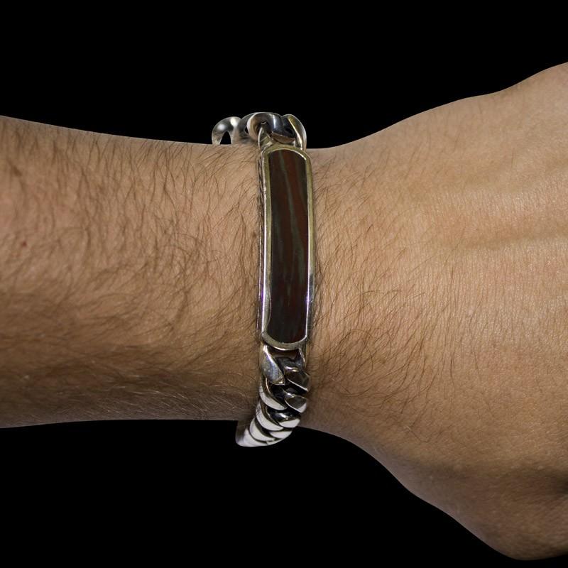 Браслет. Серебряные браслеты. Арт.1747Я из золота 585 пробы