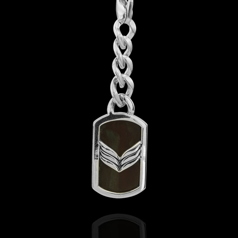 Брелок. Мужские серебряные кулоны и подвески. Арт.1747Я из золота 585 пробы