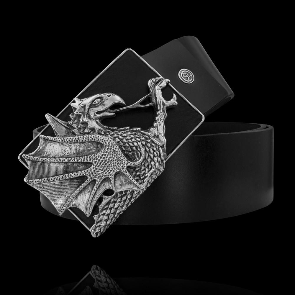 Пряжка. Мужские ремни с серебряной пряжкой. Арт.1755 из золота 585 пробы