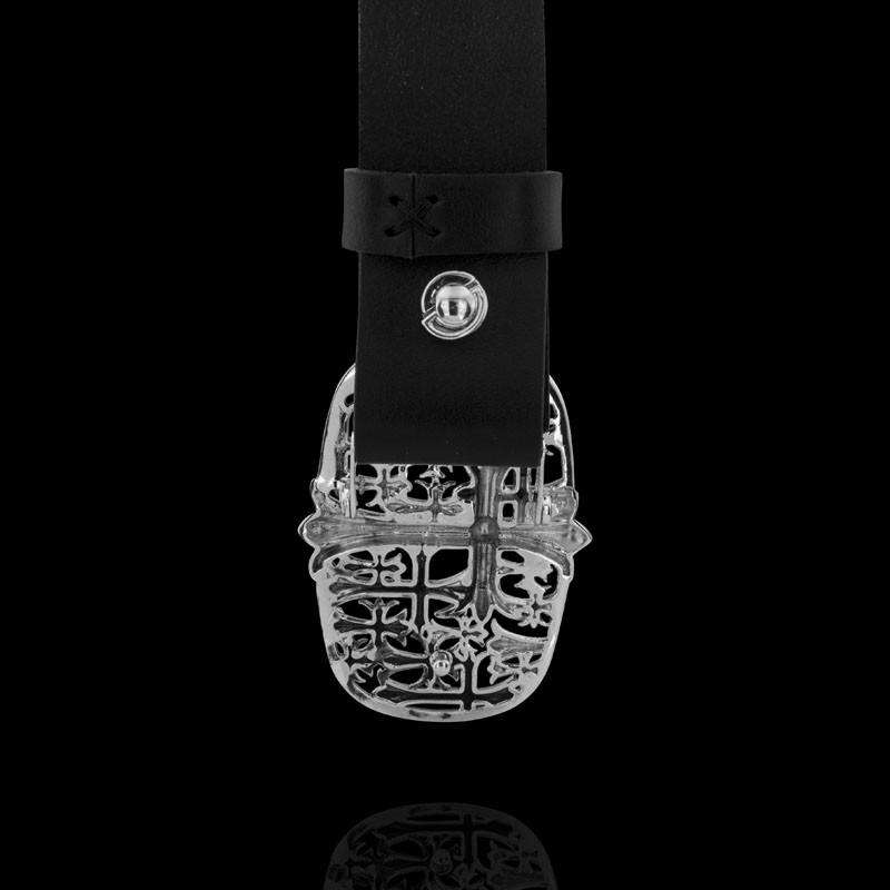 Пряжка. Мужские ремни с серебряной пряжкой. Арт.1803 из золота 585 пробы