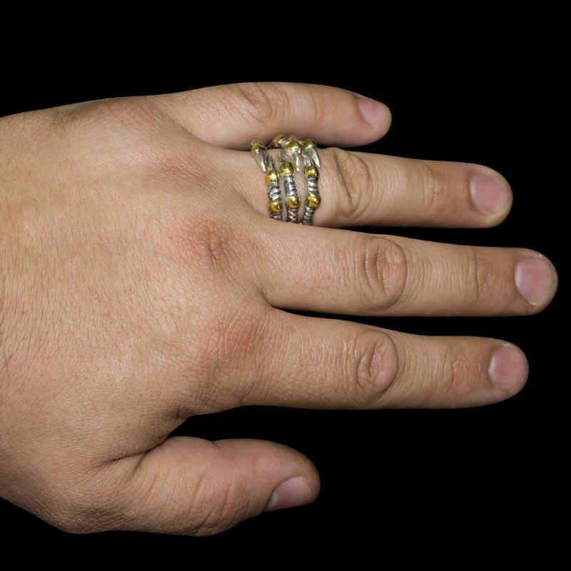 Кольцо. Серебряные кольца и печатки. Арт.1811 из золота 585 пробы