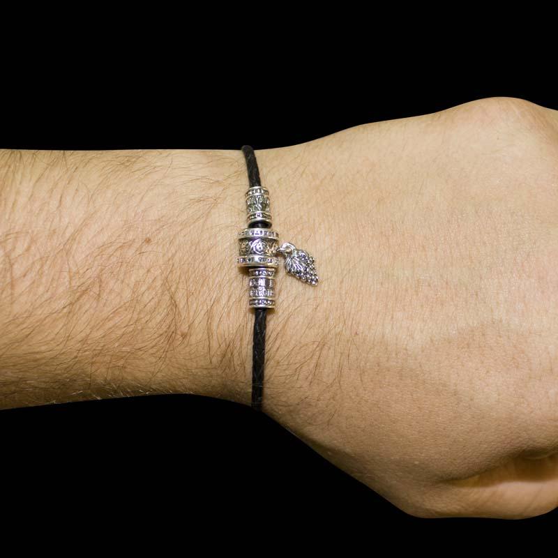 Браслет. Мужские серебряные браслеты. Арт.3126 из золота 585 пробы